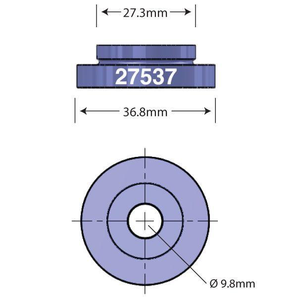 SRAM Predictive Steering Bearing Open Bore Adapter Diagram - Bicycle Parts Direct