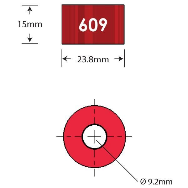 609 Over Axle Adapter Diagram - Bicycle Parts Direct