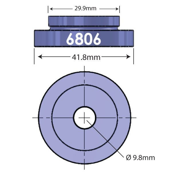 6806 Open Bore Adapter Diagram - Bicycle Parts Direct