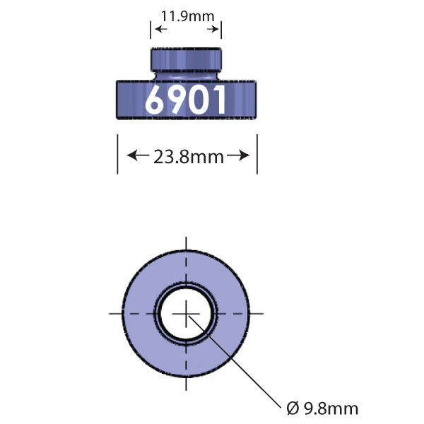 6901 Open Bore Adapter Diagram - Bicycle Parts Direct