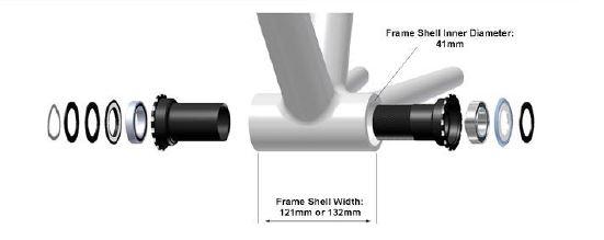 Wheels Manufacturing PressFit 30 Fat Bike Bottom Bracket 100mm Width Black