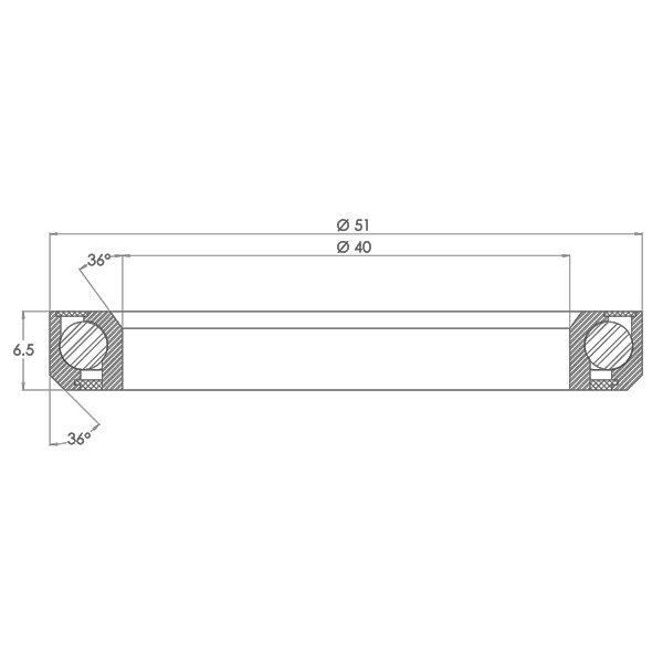 "1.5"" Angular Contact Bearing for Internal Headset Diagram - Bicycle Parts Direct"