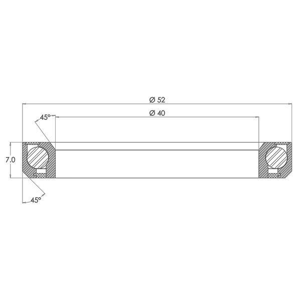 "1.5"" Angular Contact Bearing Diagram - Bicycle Parts Direct"