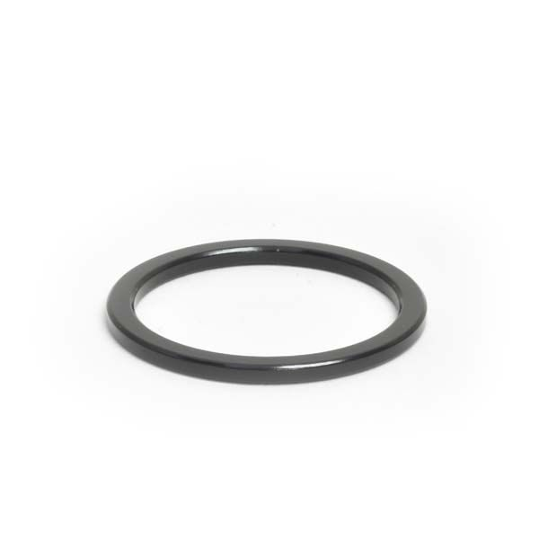 "1-1/4"" x 2.5mm Black Aluminum Headset Spacer - Bicycle Parts Direct"
