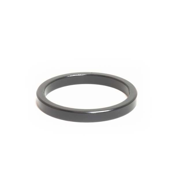 """1-1/2"""" x 5mm Black Aluminum Headset Spacer - Bicycle Parts Direct"""