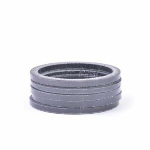 "1-1/8"" x 2.5mm Carbon Fiber Headset Spacer, Bag of 5 - Bicycle Parts Direct"