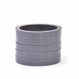 """1-1/8"""" x 5mm Carbon Fiber Headset Spacer, Bag of 5 - Bicycle Parts Direct"""