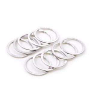 "1-1/8"" x 1.5mm Silver Aluminum Headset Spacers - Bicycle Parts Direct"