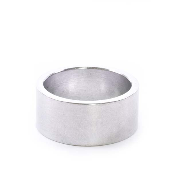 """1-1/8"""" x 15mm Silver Aluminum Headset Spacer - Bicycle Parts Direct"""
