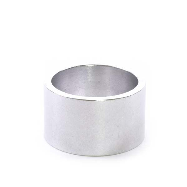 """1-1/8"""" x 20mm Silver Aluminum Headset Spacer - Bicycle Parts Direct"""