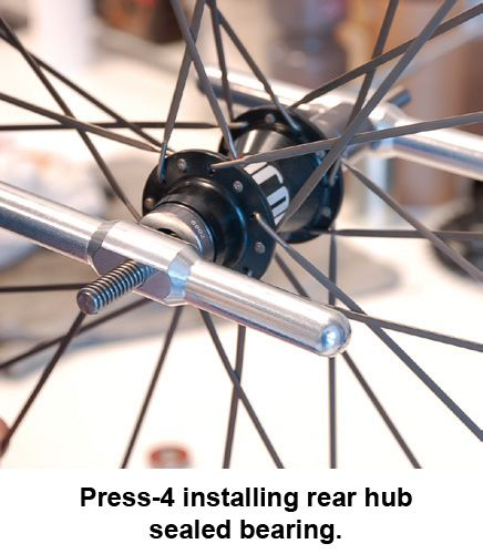 Press 4 - Economy Bearing Press in Use - Bicycle Parts Direct