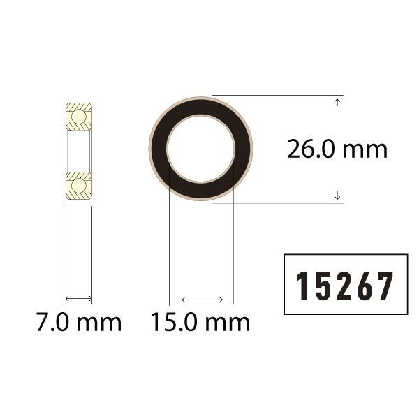 15267 Bearing Diagram - Bicycle Parts Direct