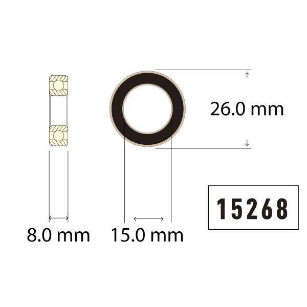 15268 Bearing Diagram - Bicycle Parts Direct