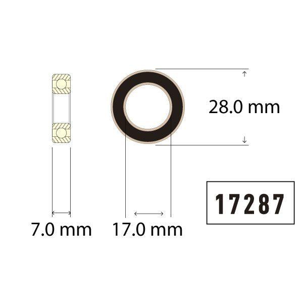 17287 Bearing Diagram - Bicycle Parts Direct