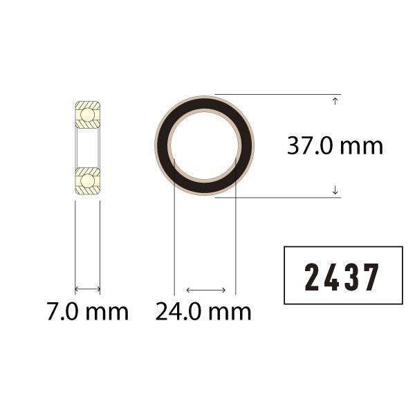 Bearing Diagram 24mm - Bicycle Parts Direct