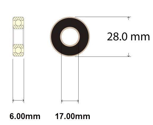 Sealed Bearing Diagram - Bicycle Parts Direct