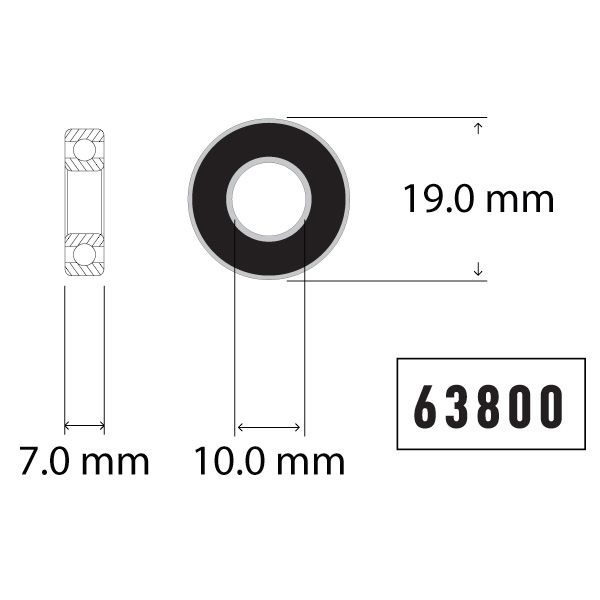63800 Bearing Diagram - Bicycle Parts Direct