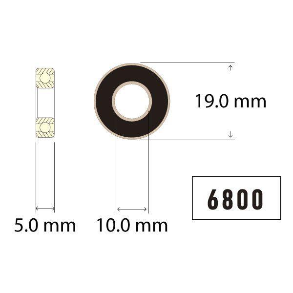 6800 Bearing Diagram - Bicycle Parts Direct
