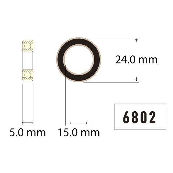 6802 Bearing Diagram - Bicycle Parts Direct