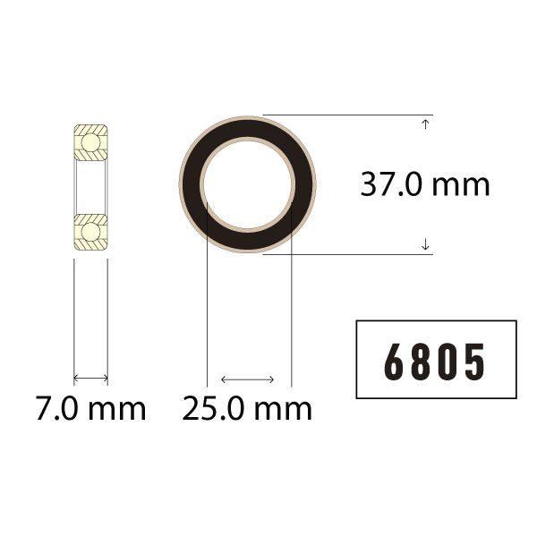 6805 Bearing Diagram - Bicycle Parts Direct