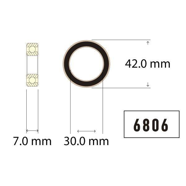 Enduro Part # BB C0 6806 Chart - Bicycle Parts Direct