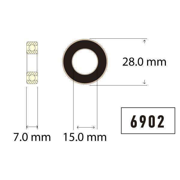 6902 Bearing Diagram - Bicycle Parts Direct