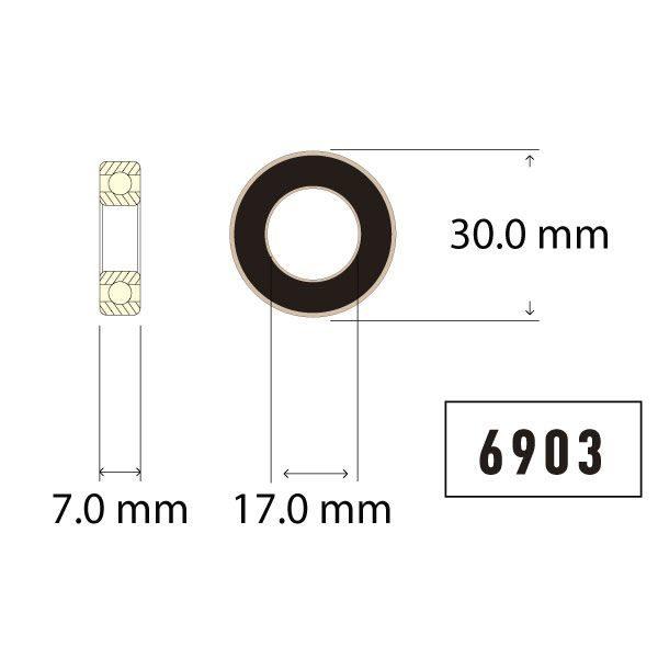 6903 Bearing Diagram - Bicycle Parts Direct