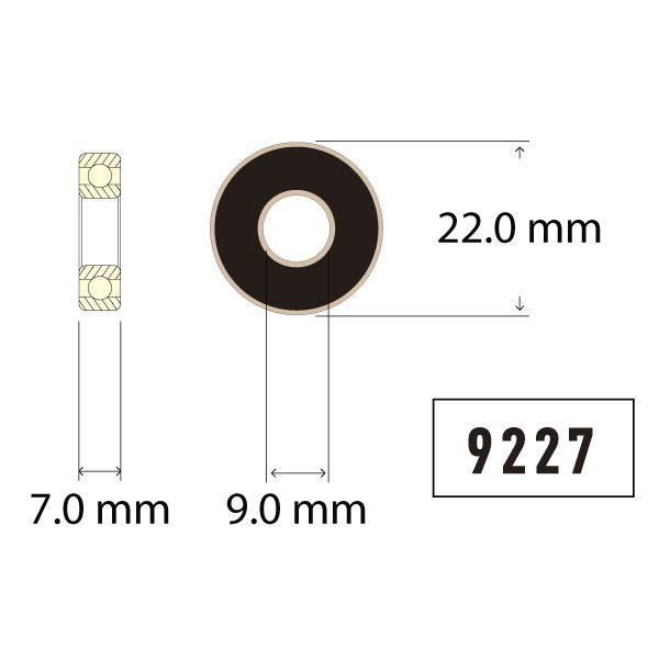 9227 Bearing Diagram - Bicycle Parts Direct