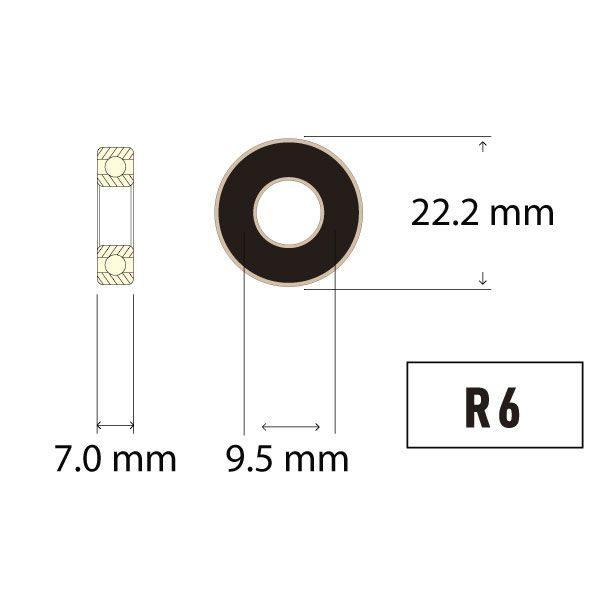 Enduro R6 ABEC-5 Sealed Bearing Diagram - Bicycle Parts Direct
