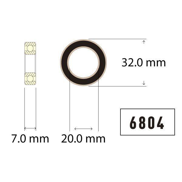 6804 Bearing Diagram - Bicycle Parts Direct
