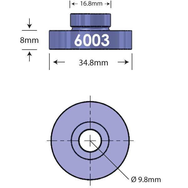 6003 Open Bore Adapter