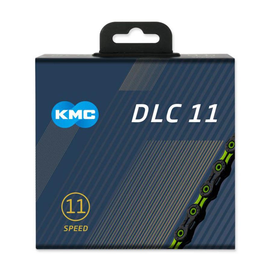KMC X11SL DLC Super Light 11 Speed Chain Black//Green Bike
